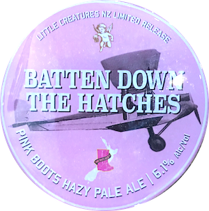 Little Creatures Batten Down The Hatches Hazy Pale 6.1% Growler 1L - Bottle Stop