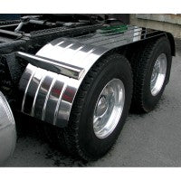 "Trux Accessories 120"" 4 Ribbed Stainless Steel Full Fender With Beaded Edge"
