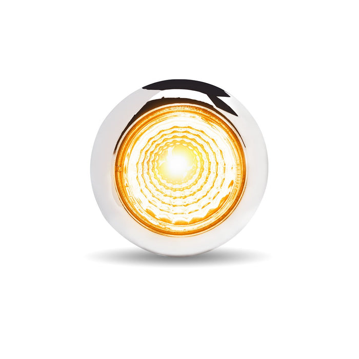 "3/4"" Twist On Dual Revolution Amber/Purple LED Marker Light with Reflector"