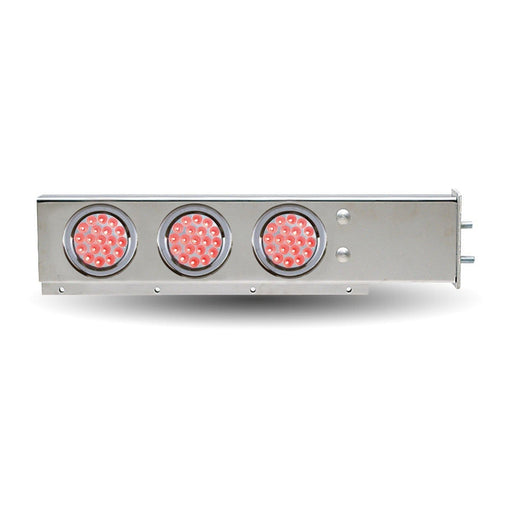 "Flat Top Mud Flap Hanger with 2 1/2"" Bolt Spacing & 4"" Dual LEDS"