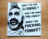 Clowns glass cutting board-small - SocialPariah