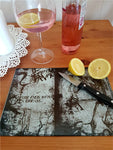 Life ends skeleton glass cutting board - SocialPariah