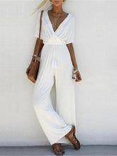 Load image into Gallery viewer, Stylish Crossed Deep V Jumpsuit