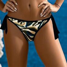 Load image into Gallery viewer, Asymmetric Stripe Camouflage Bikini