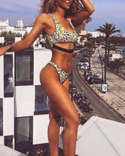 Load image into Gallery viewer, Multicolor Leopard Buckle Series Bikini