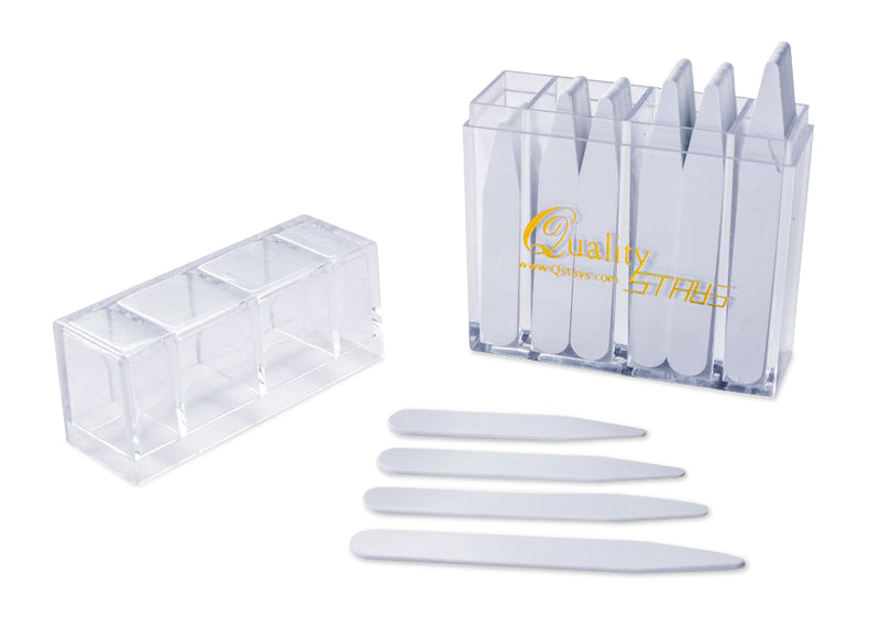 "100 Plastic Collar Stays (mix sizes (2"" 2.2"" 2.5"" 2.75"" - White)"