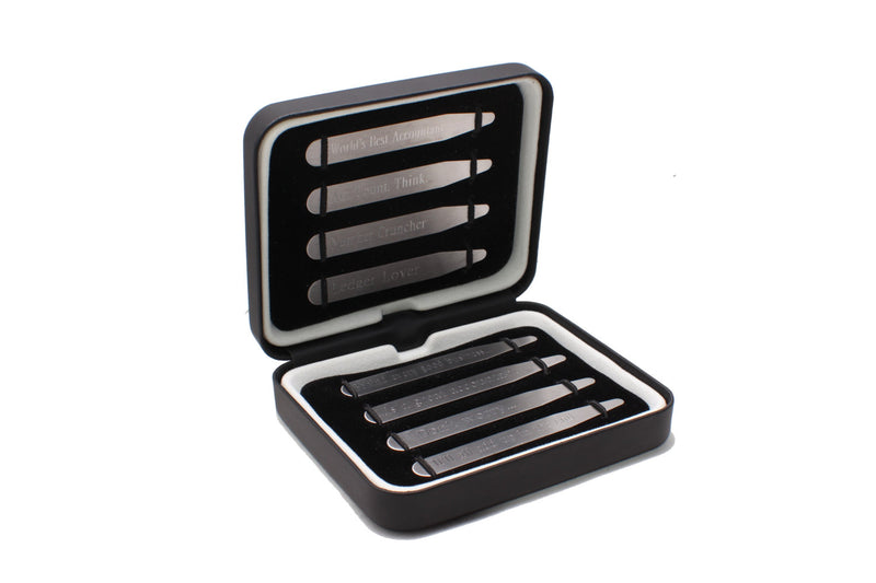 "Accountant Personalized Collar Stays in a Luxurious Gift Box (2.5"" & 2.75""; Matte)"