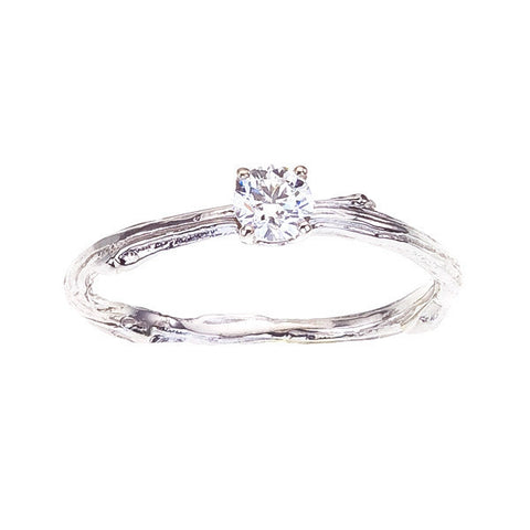 Fine Twig Diamond Engagement Ring