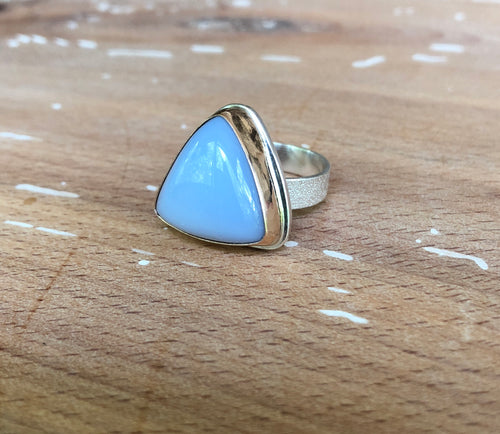 Arena Ring-Blue Chalcedony