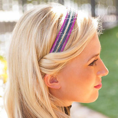 Glimmer Beaded Headband Cover for the classic Headband ONLY - Infinity Headbands by Ambrosia Designs