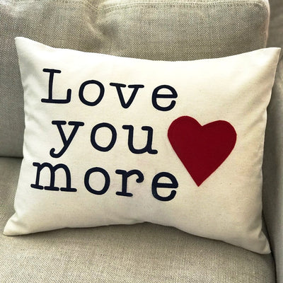 Love You More Pillow - Infinity Headbands by Ambrosia Designs