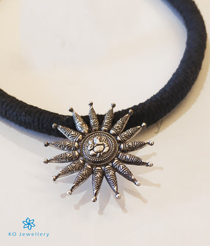 The Gaurik Silver Necklace (Oxidised)