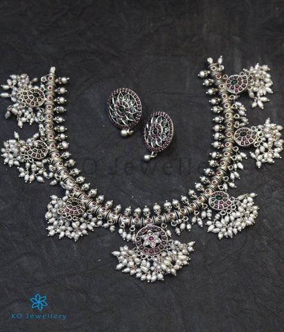 The Vidisha Silver Guttapusalu Necklace