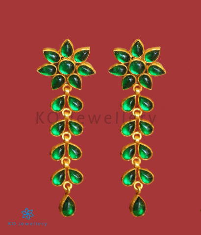 The Paraga Silver Earrings (Green)