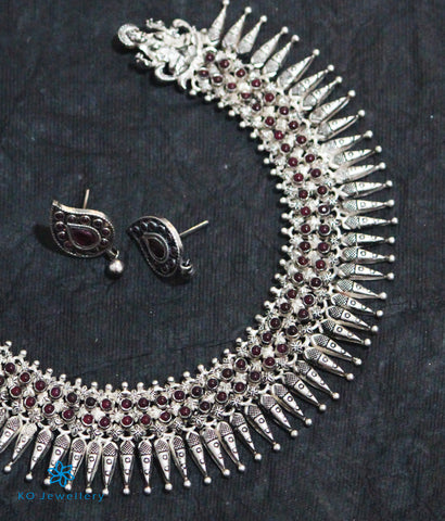 The Devi Silver Kempu Necklace (Oxidised)