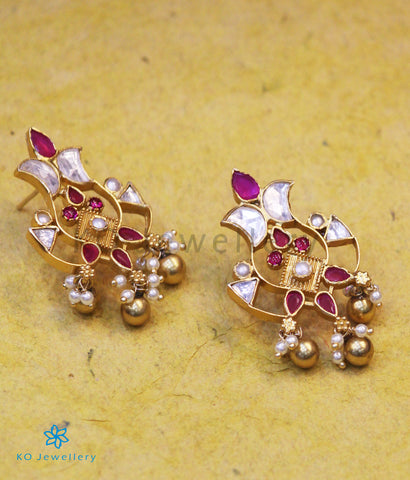 The Tahira Silver Jadau Earrings