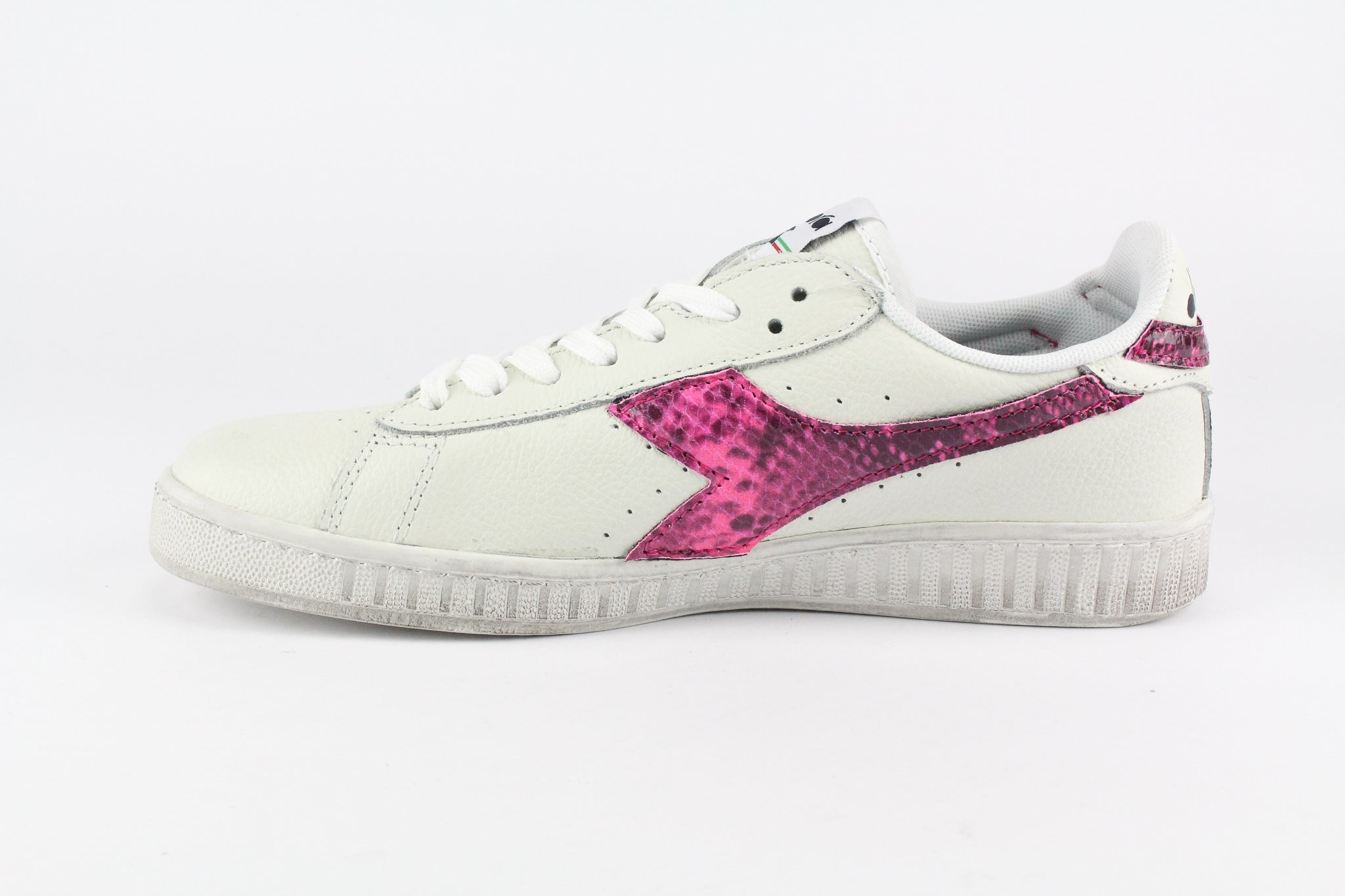 Diadora Game L Low Waxed Pitone Pink Fluo