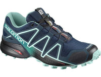 Salomon Women's Speedcross 4 Wide (D) - Poseidon/Eggshell Blue/Black (L40237400)