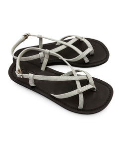 Tavira Sandals In Light Grey, Front View