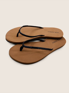 Weekender Sandals In Black, Front View