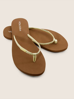 Weekender Sandals In Citron, Front View