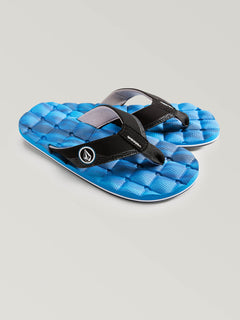 Big Boys Recliner Sandals In Marina Blue, Front View