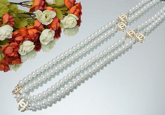 Cela Pearl Necklace (white) - ebrook lael