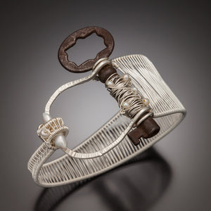 Woven Asymmetrical Skeleton Key Cuff