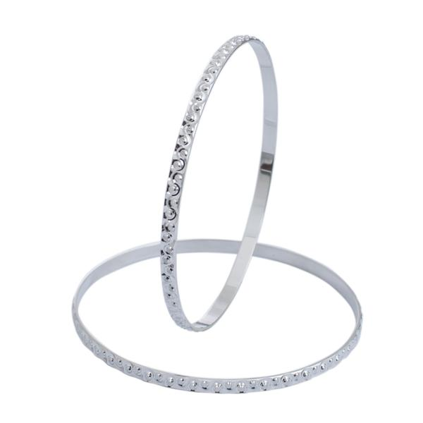 Designer Platinum Bangles for Women, with Unique Texture JL PTB 627