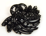 Black Flower Bouquet Brooch - Bonita Patterns