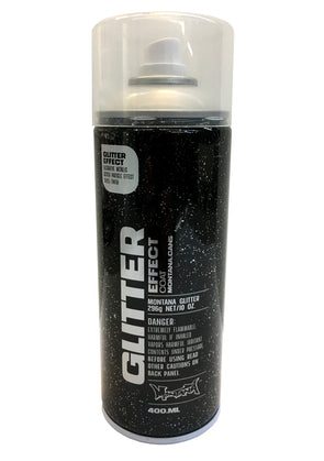 Montana Glitter Effect Spray Paint - Black with Silver