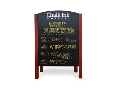 Image of Chalk Ink Double Sided A-Frame chalkboard with Chalk Ink artwork