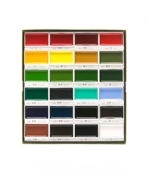 Image of the product Gansai Tambi Speciality Handmade Watercolors, Set of 24 Colors