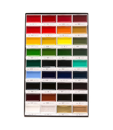 Image of the product Gansai Tambi Speciality Handmade Watercolors, Set of 36 Colors