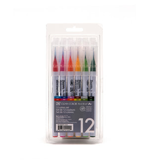 Image of the product Zig Clean Color Real Brushes, Set of 12 Colors