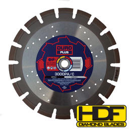 DURO DPA/C - Diamond Blade 450mm / 18in - Asphalt & Concrete - View Cutting Details
