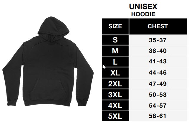 Sizing Chart - District Unisex Hoodie