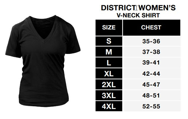 Sizing Chart - District Womens V-Neck