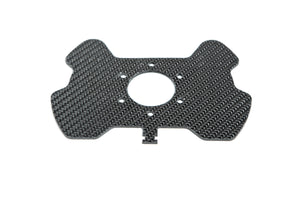 Back view of the Future Classic motorsport carbon steering wheel button plate