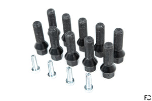 Future Classic comprehensive BMW spacer hardware set including both lug bolts and hub hardware