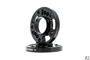 A 3/4 view of the Future Classic BMW 5x120 18mm wheel spacer