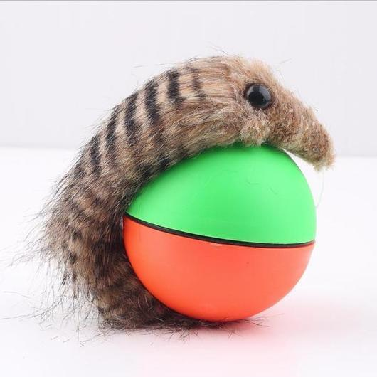 Rolling Interactive Weasel Ball Cat Toy