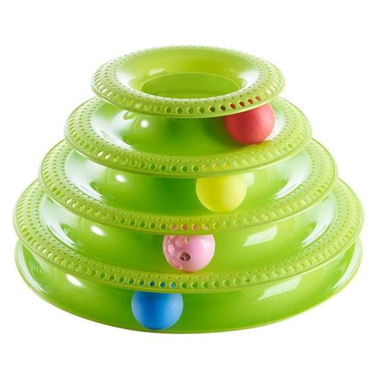 Cat Tower - Interactive Ball Track Tower Cat Toy