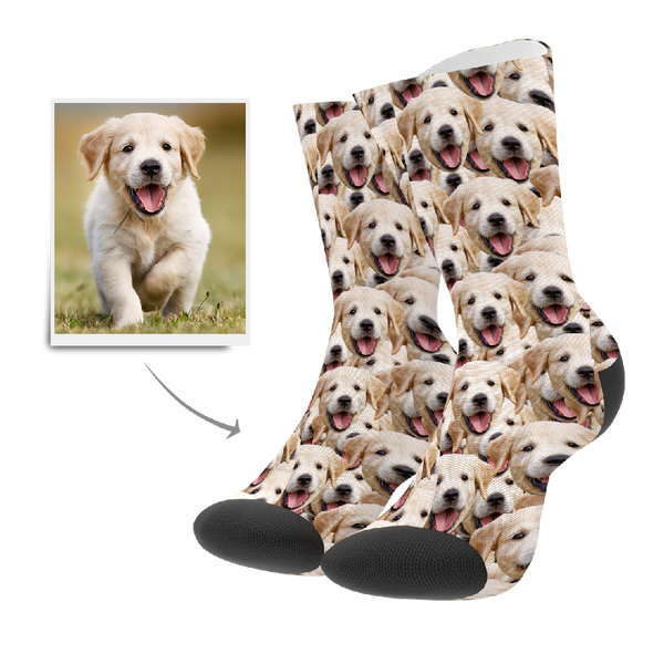 Custom Face Mash Dog Socks - MyFaceBoxer