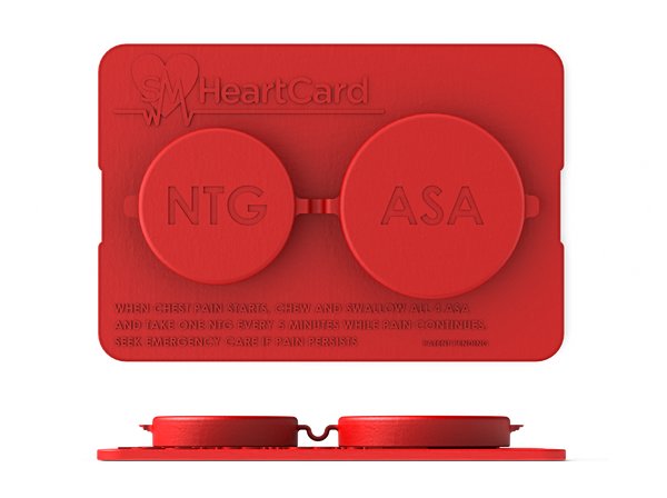 SMHeartCard - because minutes matter (get Nitroglycerin from your pharmacist)
