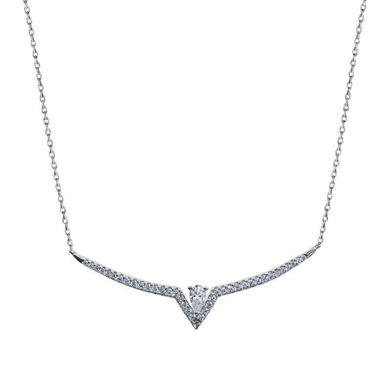 Victoria Necklace White Gold