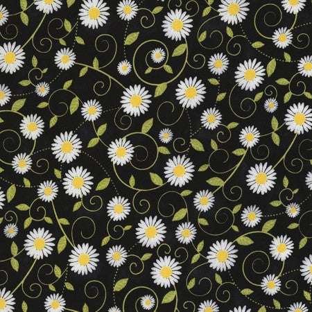 Beeloved/You are my Sunshine Collection by Gail Cadden - Daisy Vines -Yardage