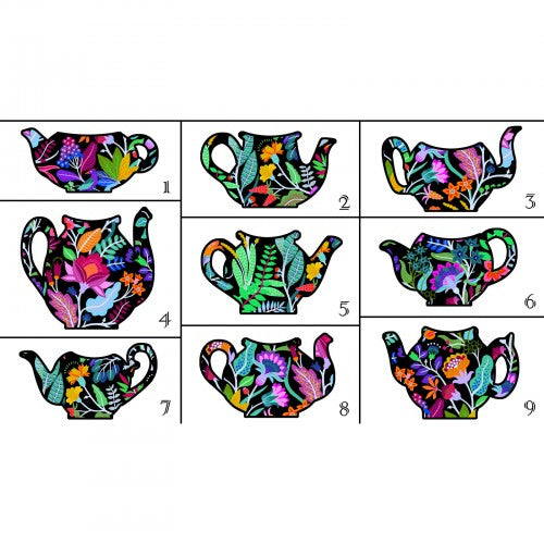 Teapot Sampler Collection by In the Beginning - Teapots - Panel