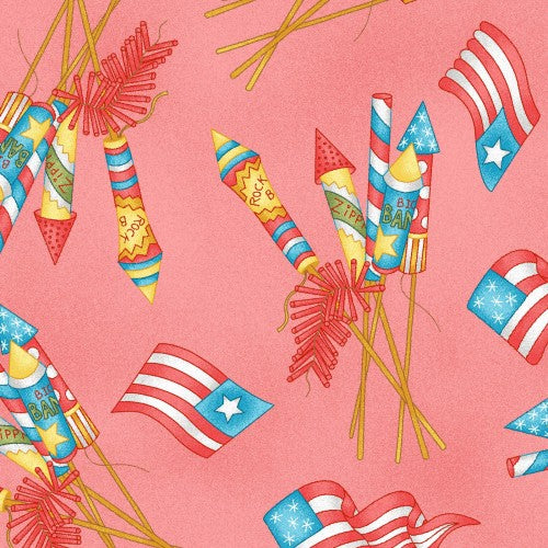 Back Porch Celebration Collection by Meg Hawkey  - Vintage Fireworks - Yardage