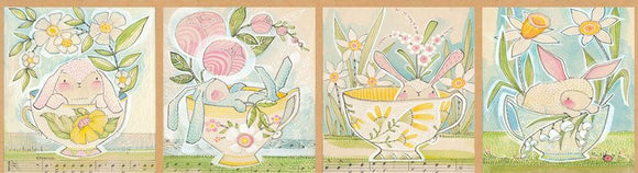 The Promise Of Spring by Cori Dantini - Tea with Bunny - Panel